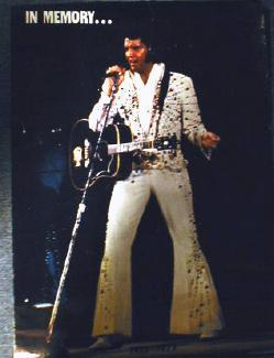 Elvis Presley IN MEMORY 1977 Poster - Vintage paper collectible
