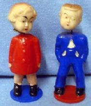 Nodder Boy & Girl KISSING Nodders - Vintage Plastic Figures - misc