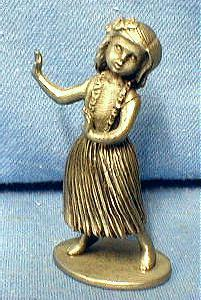 Limited edition  Hawaiian HULA DANCER  - Vintage Hudson Pewter