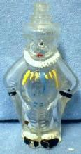 vintage CLOWN Candy Container - Hand Painted Blown Glass