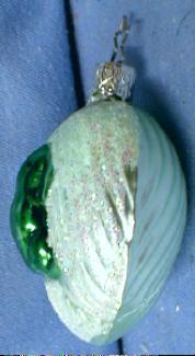 FROG Christmas Ornament - Vintage Blown Glass Holiday  Ornament
