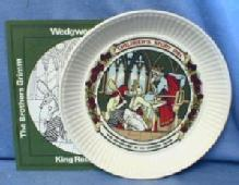 Limited edition  1984 KING ROUGHBEARD  -  Wedgwood Queen's Ware Children's Story Porcelain Plate