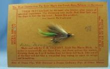 old Hand Tied Fly Fishing Lure - DEER MOUSE  - Trout Bass Salmon Rainbow Bait - Vintage sporting