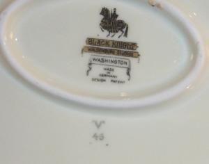 German BLACK KNIGHT Porcelain Casserole Dish w/ Lid