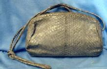 old Mario Valentino Snakeskin Leather Clutch Shoulder Purse -  Vintage Designor Handbag Purse -  misc