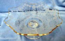 Etched Glass Candy Compote - Elegant Glassware