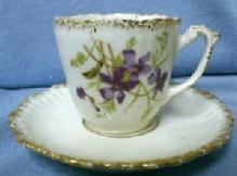 KPM Demi Cup and Saucer - Demitasse China Porcelain