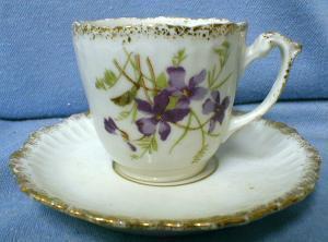 KPM Demi Cup and Saucer - Demitasse China Porcelain