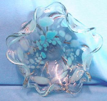 ART GLASS  Murano Internally Decorated  Art Glass Bowl
