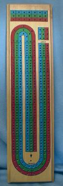 Vintage Cribbage Board - Wood Collectible