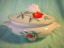 Covered Serving Bowl - Porcelain China Casserole