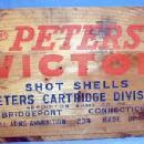 PETERS Victor Shot Shell Wooden Crate - Ammunition Box - Sporting