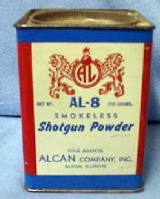Shotgun Powder - Al-8 Vintage Advertising Sporting Cardboard & Tin