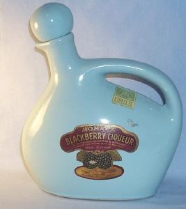 MOHAWK BLACKBERRY LIQUEUR Advertising Pottery Decanter