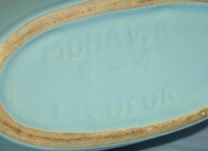 MOHAWK BLACKBERRY LIQUEUR Advertising Pottery Decanter