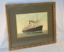 Ocean Liner S.S. NIEUW AMSTERDAM Framed Print - Misc.