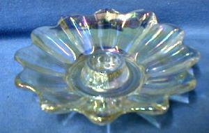 Carnival Glass Candle Holder