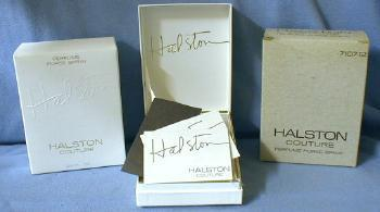 Halston Perfume Purse Spray - Vintage Silverplate Bottle