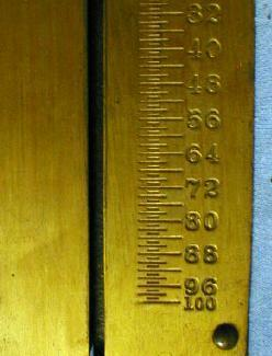 old 100 # Brass Spring Scale - Landers Improved One Hundred  Pound  Metalware tool