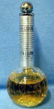 old vintage Lucien Lelong Perfume - CRACKLE Glass Perfume Bottle -