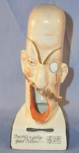 Open Mouth ENGLISHMAN Porcelain Ashtray - Tobacciana