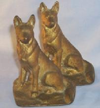 Cast Iron SHEPHERD DOG Bookends - Metalware
