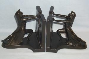 Ronson QUEEN OF THE NILE Bookends - Metalware