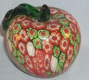 Art Glass APPLE Paperweight
