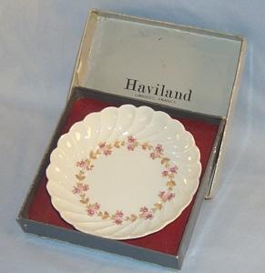 Haviland LIMOGES Small Flowered Porcelain Bowl in Original Box
