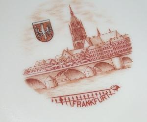 FRANKFURT Advertising Porcelain Souvenir Dish