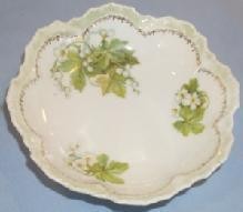 R.S. Germany Flower Design Porcelain Berry Bowl