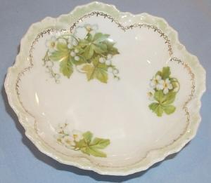 R.S. Germany Flower Design Porcelain Berry Bowl