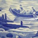 SPODE Flow Blue Commemorative Porcelain Plate