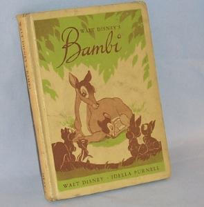 Walt Disney's BAMBI Illustrated Hard Cover Book - Paper