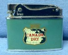 Cigarette Lighter  CANADA DRY Advertising  Lighter - Vintage Ginger Ale Soda Advertising Tobacciana