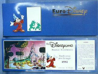 old vintage 1992 Disneyland  Euro GRAND OPENING Ticket -