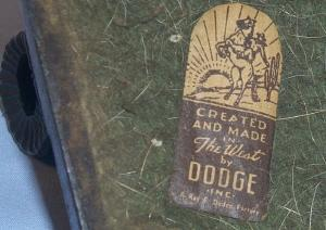 Dodge COVERED WAGON Grey Metal Ashtray - Tobacciana