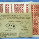 old vintage BUSTER BROWN Shoes Vanishing Card Spot Trick - Magic Card Trick & Coin Trick  - Advertising paper
