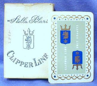 STELLA POLARIS Clipper Cruise Line Playing Cards   - Vintage Advertising paper