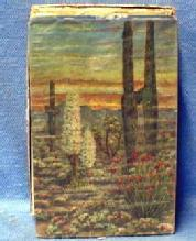 old original US INT REVENUE Stamp Intact Playing Cards   - Vintage Desert Scene  paper