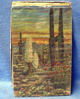 US INT REVENUE Stamp Intact Playing Cards   - Vintage Desert Scene  paper