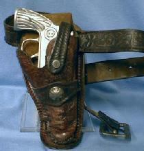 vintage 1950's Large Die-Cast Cap-Gun Metal Toy Gun