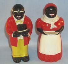 AUNT JEMIMA  & UNCLE MOSE Plastic Salt and Pepper Set - Ethnographic