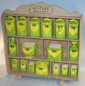 Child's Spice Rack / Kitchen Cabinet - Toys