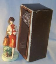 TUPPERWARE Saleslady Porcelain Figurine in Original Box - Advertising