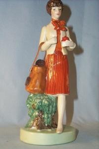 TUPPERWARE Saleslady Porcelain Figurine in Original Box - Advertising