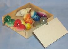 Eight Swedish Bird Placement Card Holders in Box - Misc.