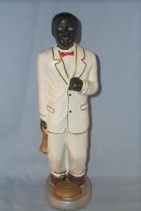 MUSICIAN IN WHITE SUIT Ceramic Figurine - Ethnographic