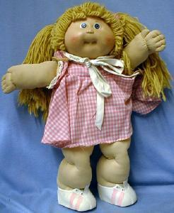 vintage Original Cabbage Patch Kid Doll w/Certificate -