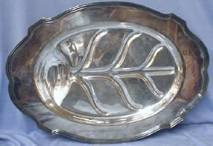 vintage Turkey Platter MEAT Server - Vintage Silverplate